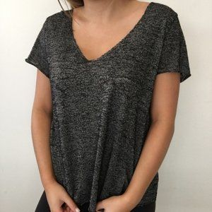 NWOT Project Social T Marled Gray Oversize Tee